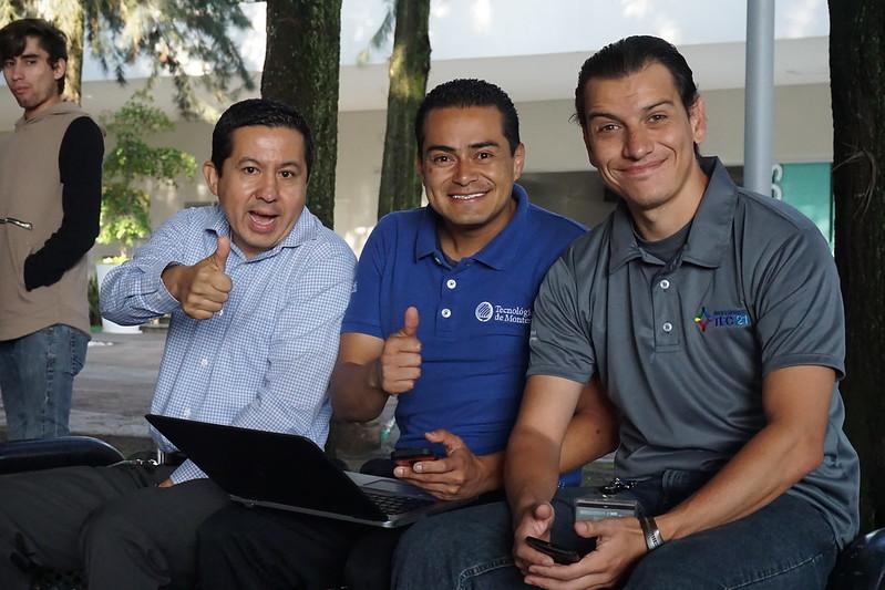 Three members of the IT Support team at Tecnológico de Monterrey in Guadalajara, July 2017.