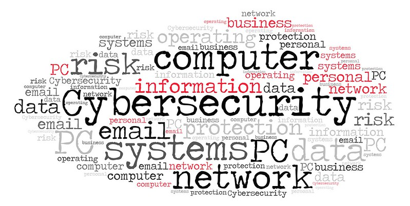 """A word cloud featuring """"Cybersecurity""""."""