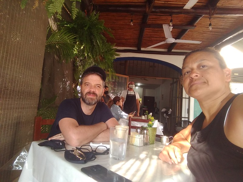 Breakfast selfie at  La Pergola Mia Cocina in Marina Vallarta.
