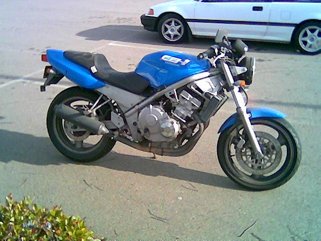 Honda CB1 motorcycle.