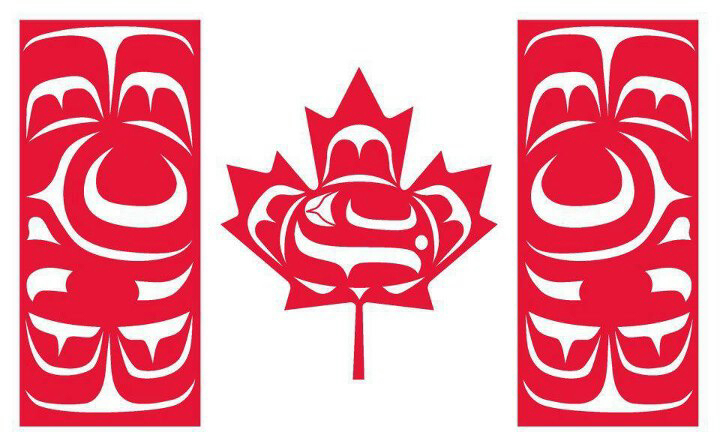 """Canadian Native Flag as designed by Curtis """"Mulidzas"""" Wilson."""