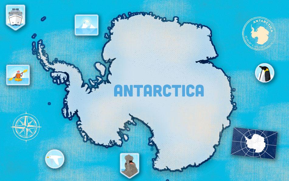 Antarctica Photo Expedition Map