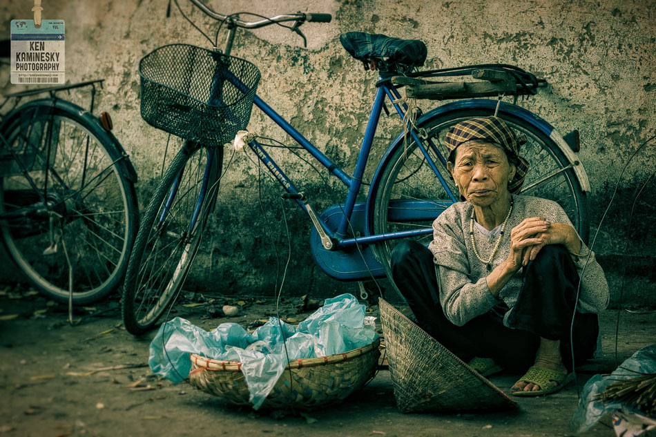 Portrait Vietnamese Hanoi Woman