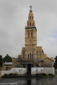 L'église de Sainte-Anne en cours de restauration