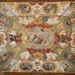 Les plafonds des galeries magnifiquement décorés