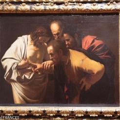 Le Caravage : L'incrédulité de Saint Thomas