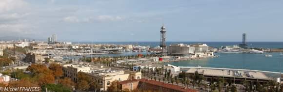 vue du port depuis le téléphérique