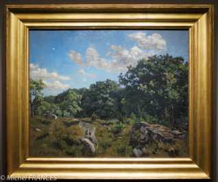 Frédéric Bazille - Paysage à Chailly