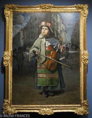 Frédéric Bazille - Petite italienne chanteuse de rue