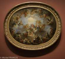 François Lemoine - La Vierge en gloire - 1733 - Ricordo de décor de la couôle de la chapelle de la Vierge de l'église Saint-Sulpice