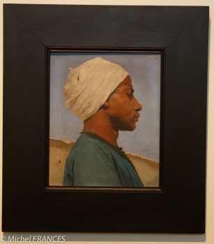 Paul LEROY _ Portrait d'un jeune guide arabe - 1884