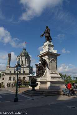 La statue de Champlain