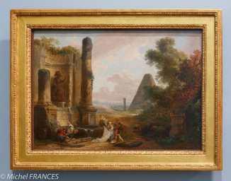 Musée des beaux arts d'Angers - Hubert Robert - La fontaine de Minerve à Rome - 1773