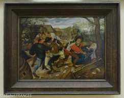 Palais Sternberg - Galerie nationale - Pierre II Brueghel - Bagarre paysanne - 1622