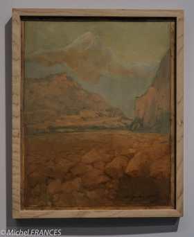 Musée du quai Branly - Peintures des lointains - Ange Supparo - Le Piton des neiges , île de la Réunion - 1915