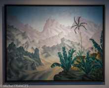 Musée du quai Branly - Peintures des lointains - Marcel Mouillot - Le cirque de Cilaos