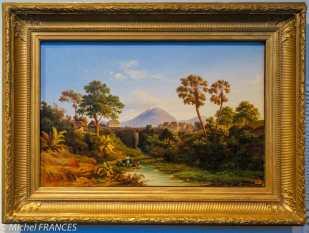 Musée du quai Branly - Peintures des lointains - Édouard Auguste Nousveaux - Cascade de l'île de Principe - 1845