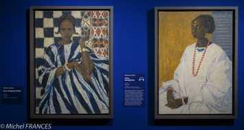 Musée du quai Branly - Peintures des lointains - Fernand Lantoine - Duco Sangharé, Peule - Fatou sénégalaise - vers 1936