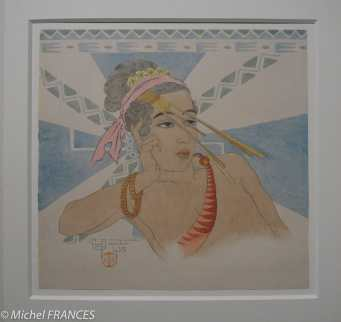 Musée du quai Branly - Peintures des lointains - Paul Jacoulet - Santiago, jeune indigène de Yap (Ouest Carolines)
