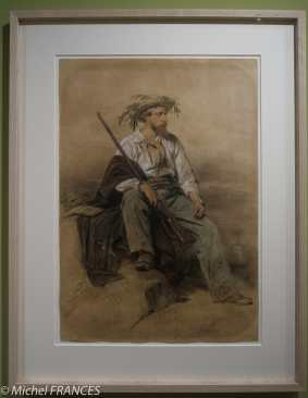 Musée du quai Branly - Peintures des lointains - Eugène Giraud - Portrait de Charles Giraud - 1842
