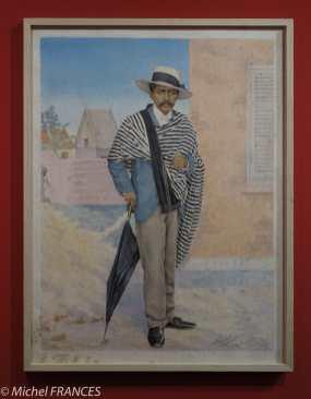 Musée du quai Branly - Peintures des lointains - Louis Raoelina - Portrait d'un bourgeois malgache - mars 1899