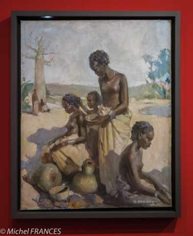 Musée du quai Branly - Peintures des lointains - Gaston Parison - Femmes malgaches à leur toilette - années 1930
