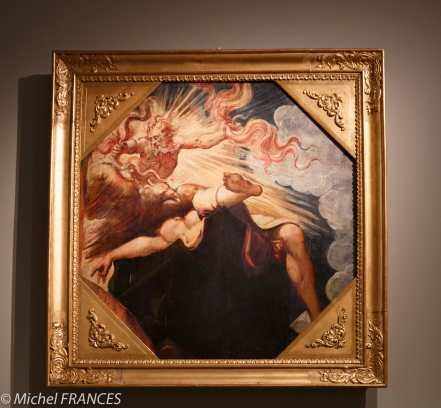 Musée du Luxembourg - Tintoret, naissance d'un génie - Jupiter et Sémélé - panneaux octogonaux pour plafond à caissons - 1541-1542