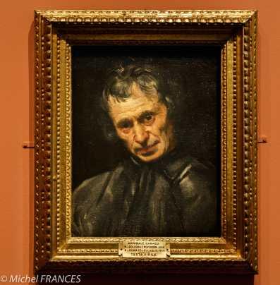 Musée du Luxembourg - Tintoret, naissance d'un génie - Portrait d'un homme (auparavant attribué à Annibale Carraci comme l'indique l'étiquette)