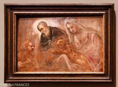 Musée du Luxembourg - Tintoret, naissance d'un génie - La Sainte Famille avec le jeune saint Jean-Baptiste - vers 1550