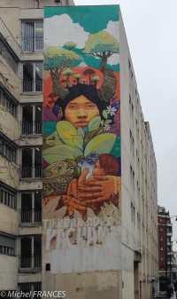 INTI, rue Jeanne d'Arc - Cette murale a disparu avec les travaux de l'immeuble