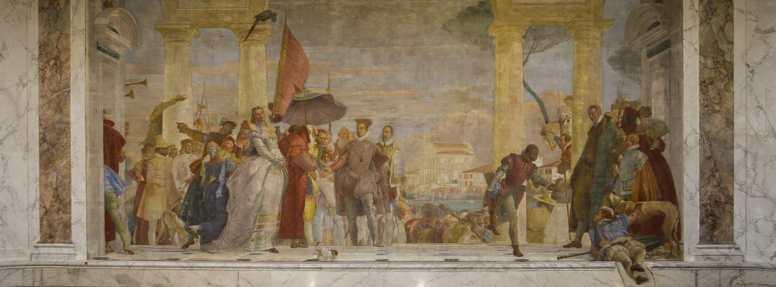 Musée Jacquemart-André - fresque de Tiepolo - La réception de Henri III à la villa Contarini - 1745