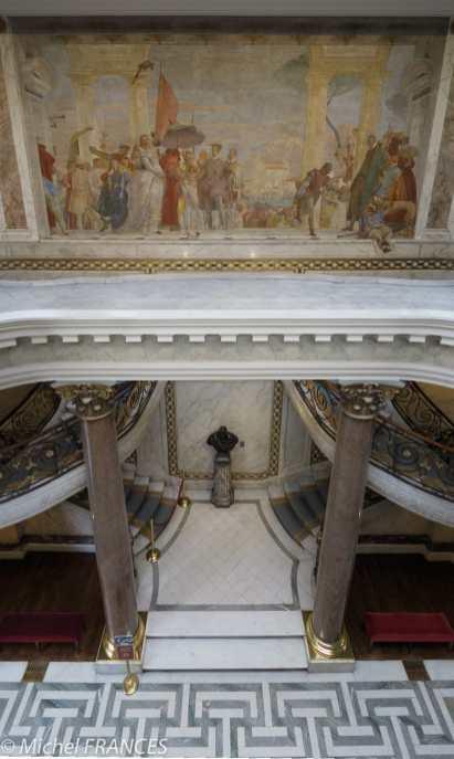 Musée Jacquemart-André - La fresque de Tiepolo en haut de l'escalier monumental