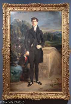 exposition Eugène Delacroix - Portrait de Louis Auguste Schwitter - 1826-1827 - refusé au Salon de 1827-1828