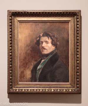 exposition Eugène Delacroix ) Autoportrait au gilet vert