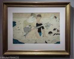 Musée Maillol - Exposition Foujita - Jeune couple et animaux - 1917