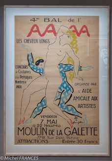 Musée Maillol - Exposition Foujita - Affiche pour le 4ème bal de l'AAAA au Moulin de la Galette - 1926