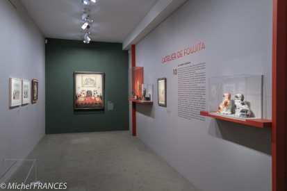 Musée Maillol - Exposition Foujita - Prséentation de l'atelier de Foujita