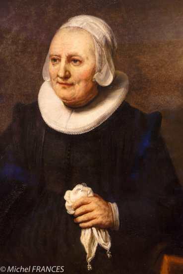 Toronto - AGO arts gallery of Ontario - Atelier de Rembrandt - Portrait d'une femme avec un mouchoir