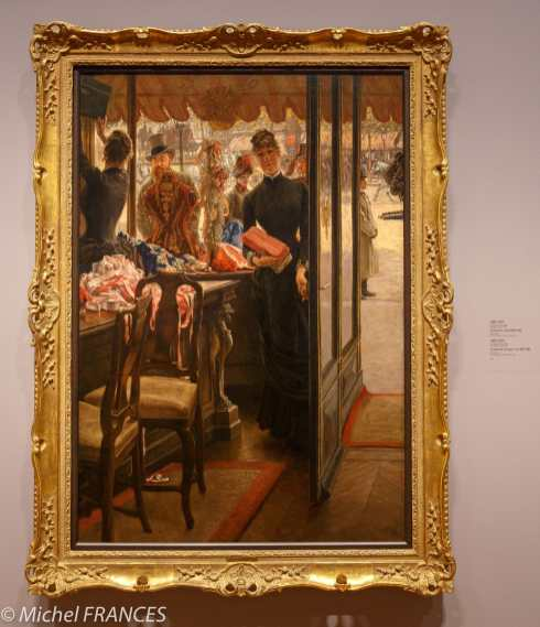 Toronto - AGO arts gallery of Ontario - James Tissot - La demoiselle de magasin