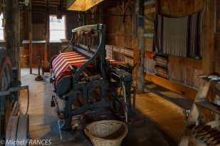 Upper Canada Village - la filature qui produit réellement de la laine et des tissus