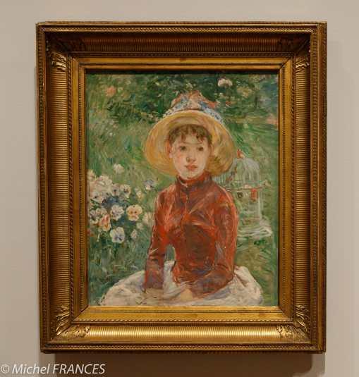 musée des beaux-arts d'Ottawa - Collection Ordrupgaard - Berthe Morisot - Jeune fille sur l'herbe (le corsage rouge) - 1885
