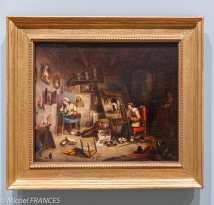 musée des beaux-arts d'Ottawa - Cornelius Krieghoff - L'atelier - vers 1845
