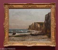 musée des beaux-arts d'Ottawa - Gustave Courbet - Les roches d'Étretat - 1866