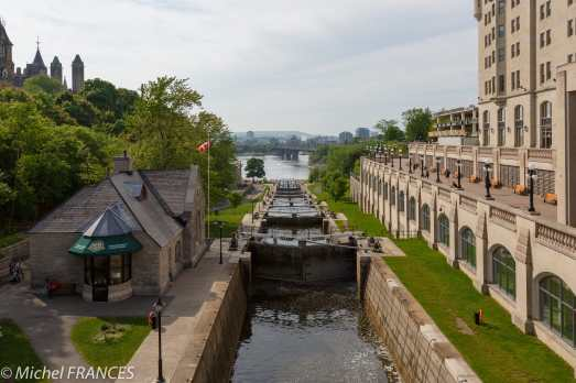 Ottawa - les écluses du canal Rideau