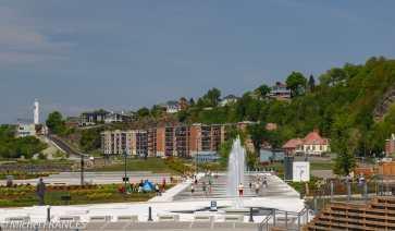 L'esplanade du port de Lévis