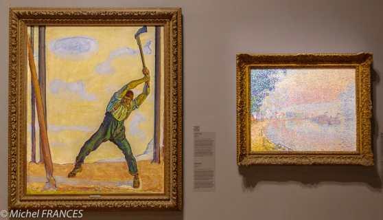 musée des beaux-arts de Montréal - Ferdinand Hodler - Le bûcheron - Paul Signac -