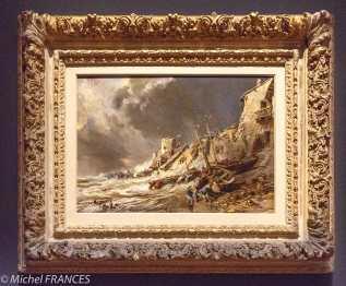 musée des beaux-arts de Montréal - Eugène Isabey - Scène de la côte bretonne (Saint-Malo) - 1860