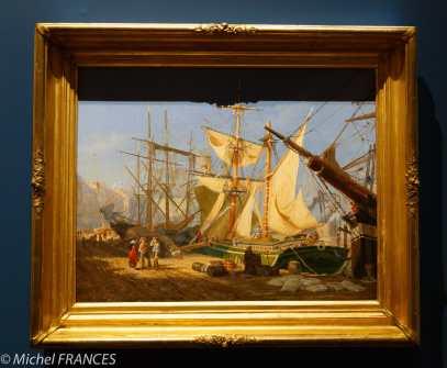 musée des beaux-arts de Montréal - Henry Sandham - Soirée sur le quai ou Port de Montréal - 1868