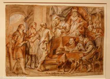 musée des beaux-arts de Montréal - Jacob Jordaens - L'aveugle-né devant les pharisiens avec ses parents - 1670