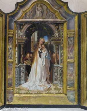 musée des beaux-arts de Lyon - Quentin Metsys - Vierge à l'Enfant entourée d'anges